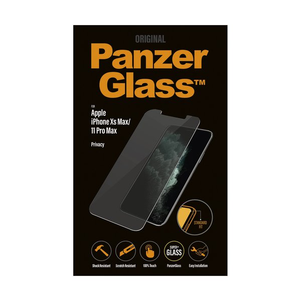 PanzerGlass - Tempered Glass Privacy for iPhone 11 Pro Max / Xs Max, Clear