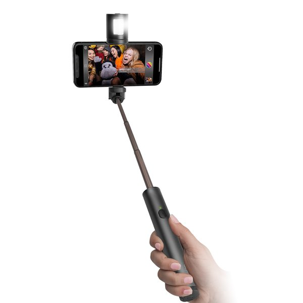 SBS - Bluetooth Selfie stick with detachable flash, 70 cm