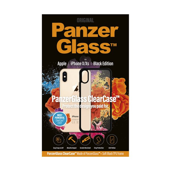PanzerGlass - Case ClearCase for iPhone XS / X, black