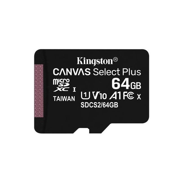 Kingston - microSDXC Canvas Select Plus Card A1 CL10 100MB / s, SD adapter