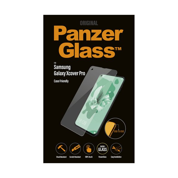 PanzerGlass - Tempered glass suitable for Samsung Galaxy Xcover Pro, black