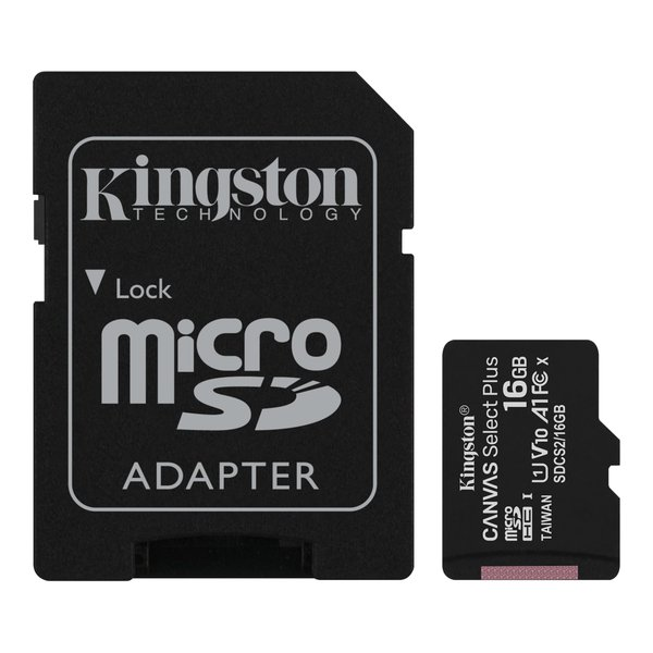 Kingston - microSDXC Canvas React Memory Card, 128 GB, SD adapter