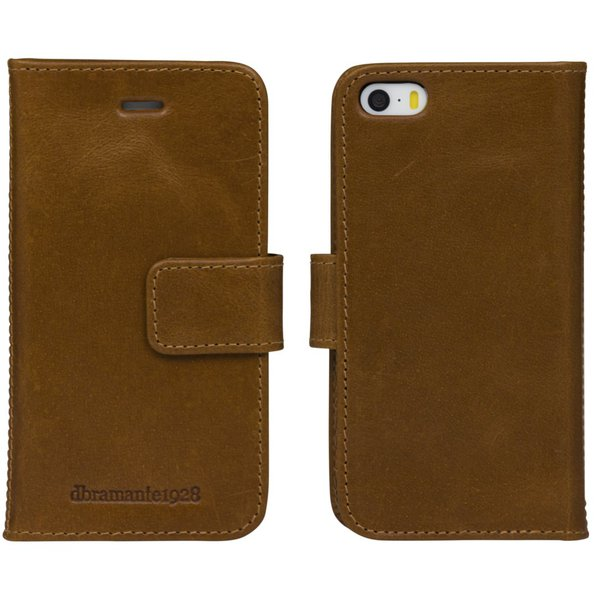 dbramante1928 - Leather case Lynge for iPhone SE / 5s / 5, tan