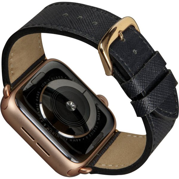 MODE - Madrid leather bracelet for Apple Watch 38/40 mm, night black