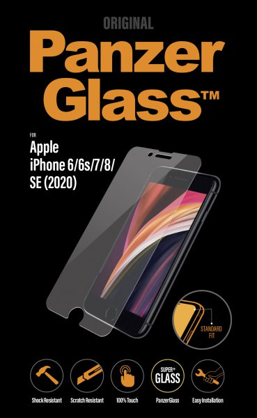 PanzerGlass - Tempered glass Standard Fit for iPhone SE 2020/8/7 / 6s / 6, transparent