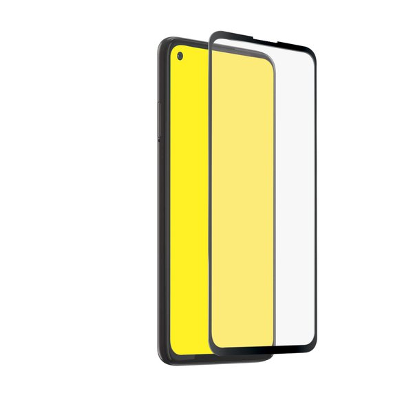 SBS - Tempered Glass Full Cover for Motorola Moto G8 Power, Black