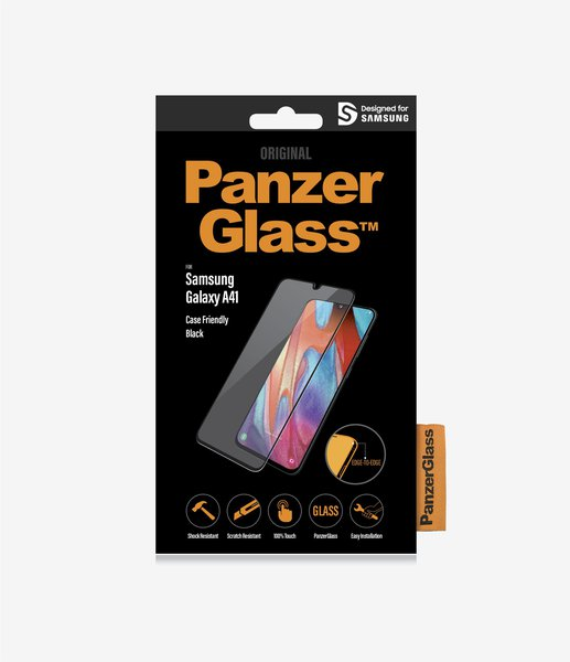 PanzerGlass - Tempered Glass Case Friendly for Samsung Galaxy A41, Black