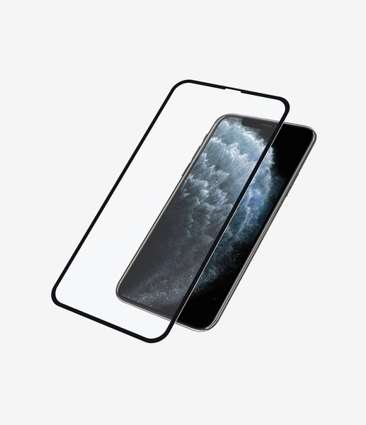 PanzerGlass - Tempered glass Case Friendly Apply Like A Pro for iPhone 11 Pro / Xs / X, black