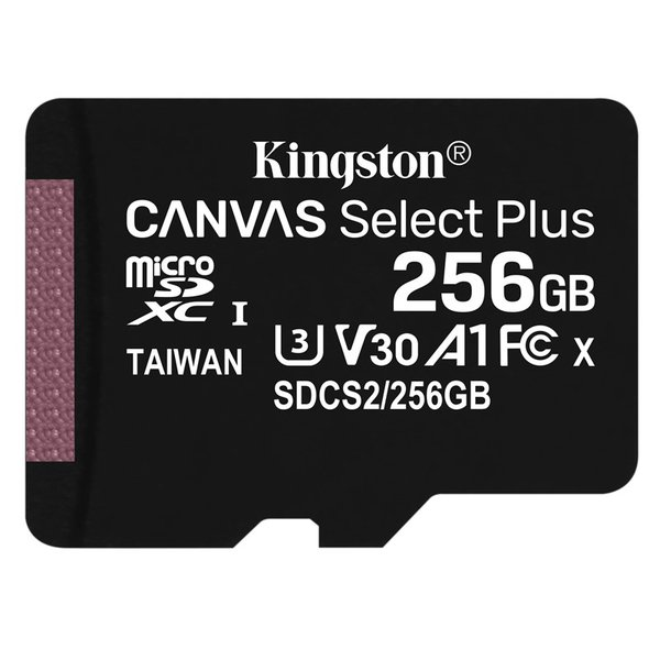 Kingston - microSDXC memory card Canvas Select Plus A1 CL10 100MB, 256 GB