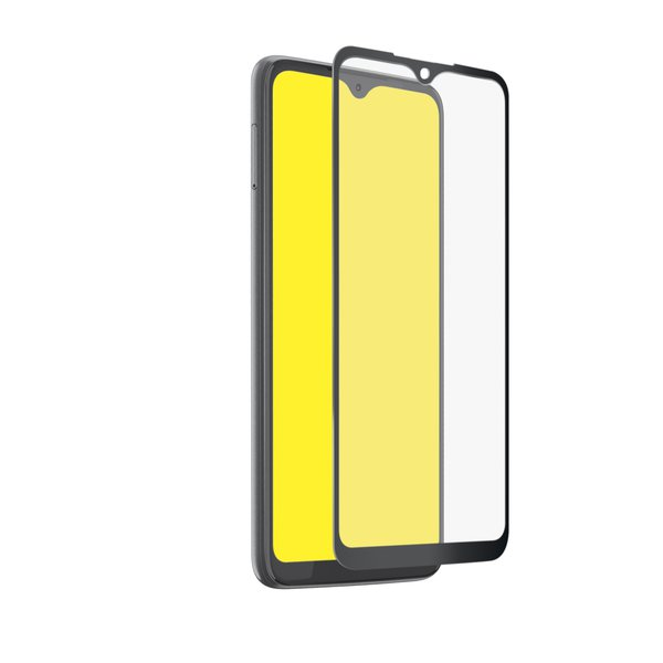SBS - Tempered Glass Full Cover for Motorola Moto G9 Plus, Black