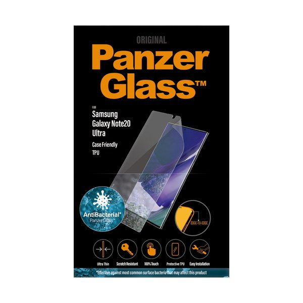 PanzerGlass - Case Friendly Tempered Glass for Samsung Galaxy Note20 Ultra, TPU, Black