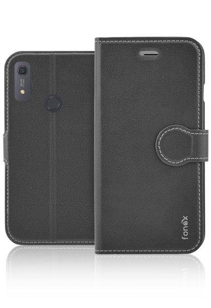 Fonex - Book Identity Case for Huawei Y6S, black