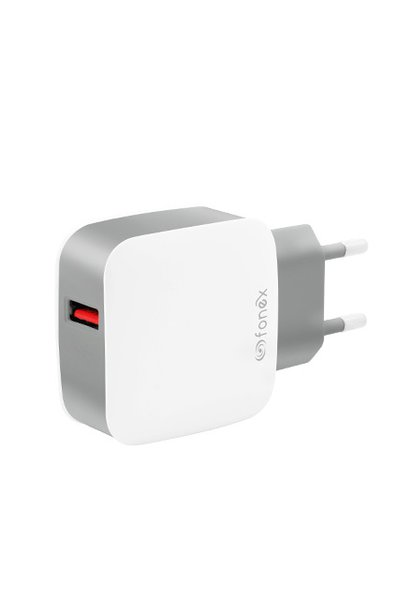 Fonex - Travel adapter USB, 3.1A, 18W, white