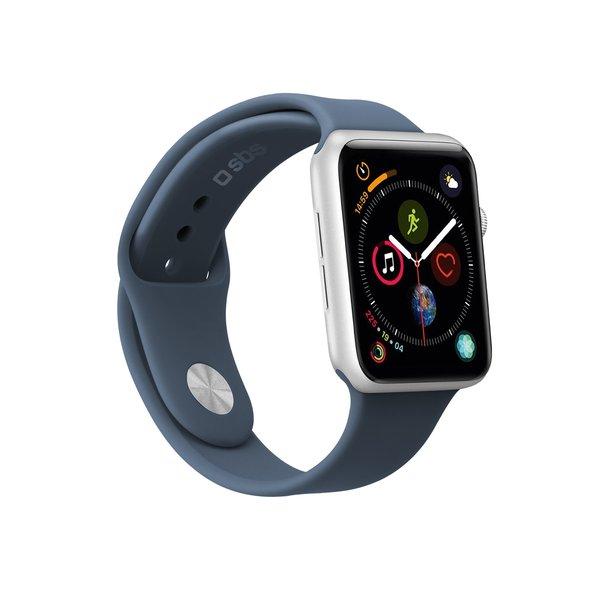 SBS - Bracelet for Apple Watch 44 mm, size S / M, blue