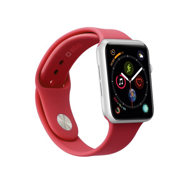 SBS - Bracelet for Apple Watch 44 mm, size S / M, red