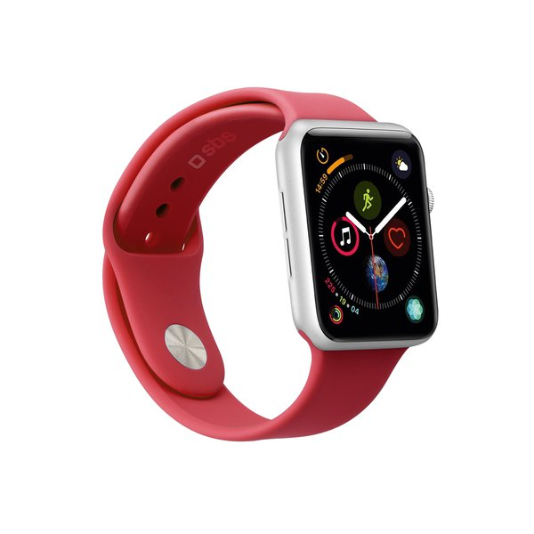 SBS - Bracelet for Apple Watch 44 mm, size M / L, red