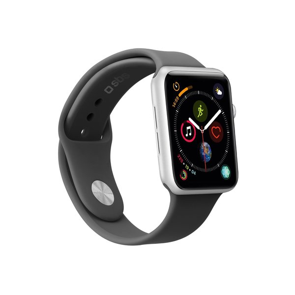 SBS - Bracelet for Apple Watch 44 mm, size M / L, black
