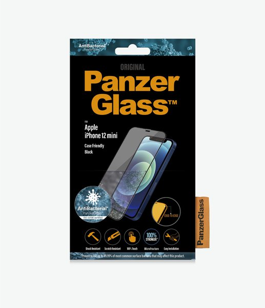 PanzerGlass - Tempered glass Case Friendly AB for iPhone 12/12 Pro, black