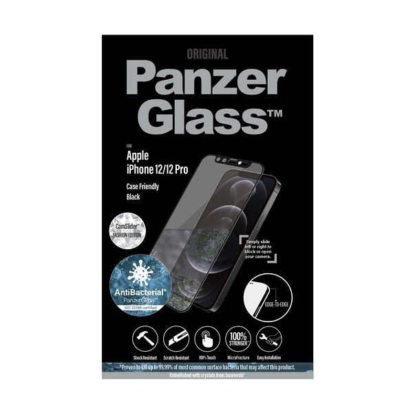 PanzerGlass - Tempered glass Case Friendly CamSlider Swarovski AB for iPhone 12 mini, black