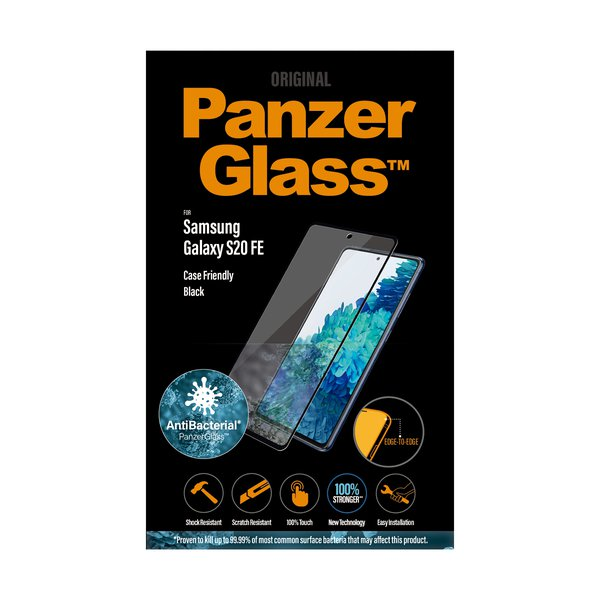 PanzerGlass - SMAPP Case Friendly AB Tempered Glass for Samsung Galaxy S20 FE, black