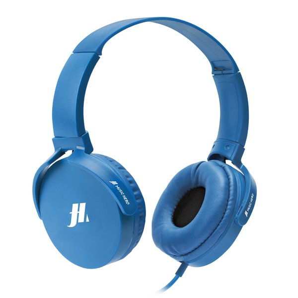 SBS Music Hero - Stereo headphones with microphone, 3.5 mm jack, blue